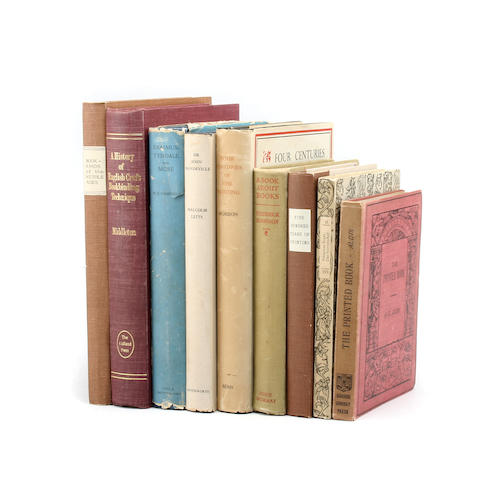 A collection of books relating to Manuscripts, Printing and Books