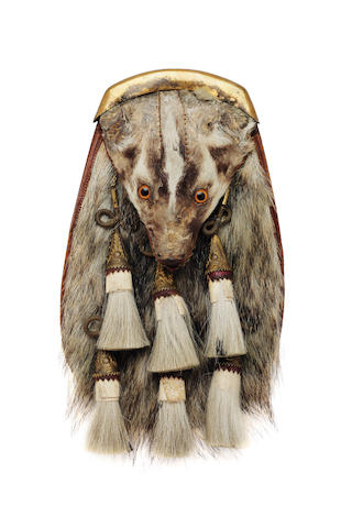 A badger head sporran of the Argyll and Sutherland Highlanders