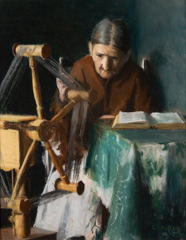 George Agnew Reid, PRCA,OSA (Canadian, 1860-1947) The Tangled Thread