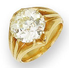 A late 19th century diamond single-stone ring,