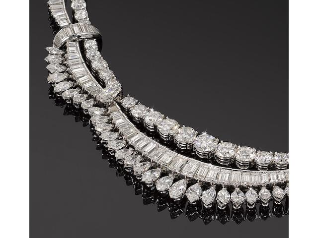 A diamond fringe necklace,