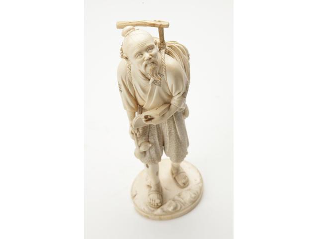 A large Ivory figure Meiji