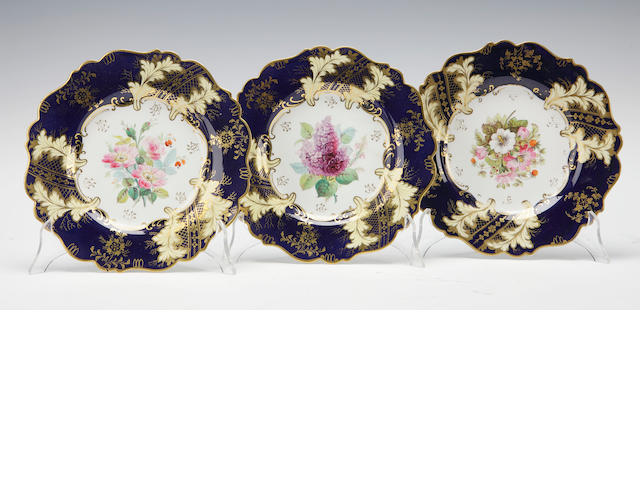 A set of twenty one dessert plates English circa 1900