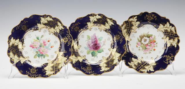 A set of twenty one dessert plates English circa 1900