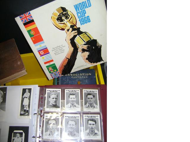A collection of football books, tickets and pictures