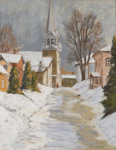 Horace Champagne, PSA,PSC (Canadian, born 1937) Eglise de la Fabrique Bonne Ste Anne