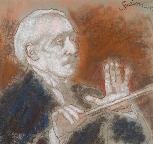 Lillian Freiman (Canadian, 1908-1986) Portrait of Arturo Toscanini