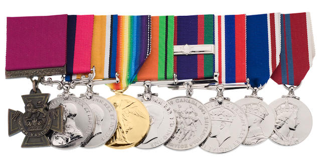 Collection of 4 medals awarded to L. Col Robert Shankland - V.C and DCM