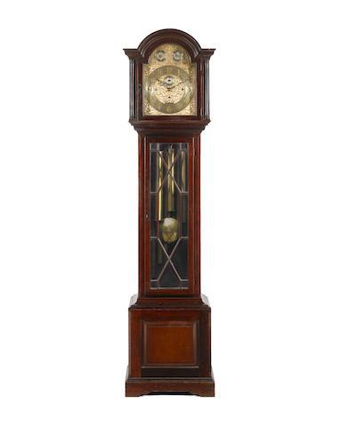 An early 20th century mahogany quarter chiming longcase clock F.W.Elliott Ltd. London