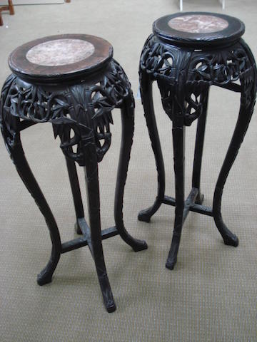 A pair of hardwood stands late 19th century