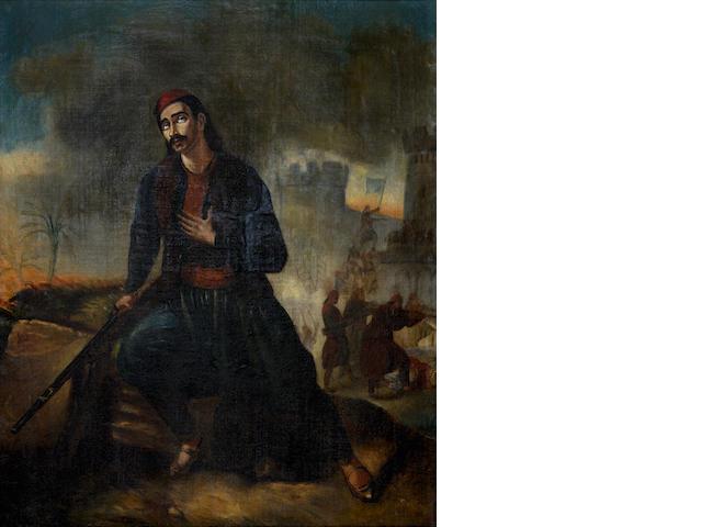 After Henry Auguste César Serrur Le soldat grec blessé