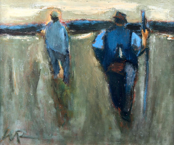 "Will Roberts (British, 1910-2000) ""Farm Workers, Evening, Neath"","