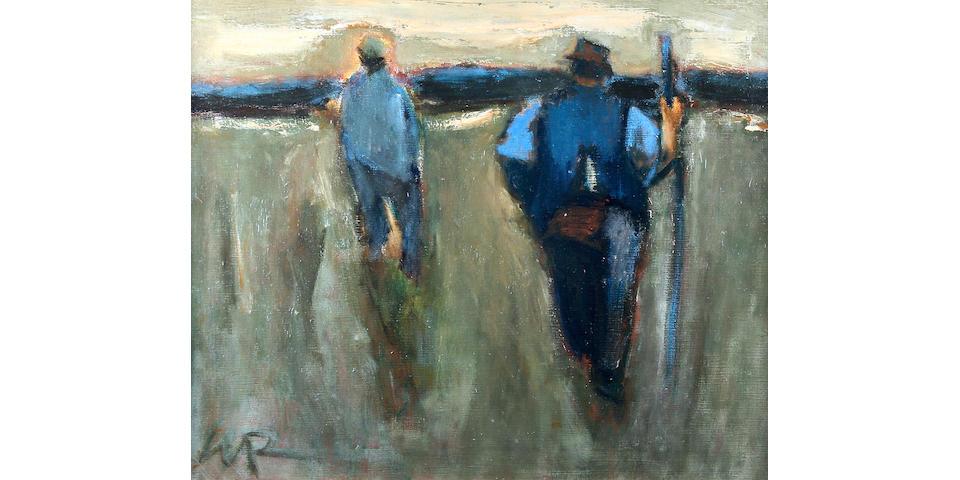 "Will Roberts (British, 1910-2000) ""Farm Workers, Evening, Neath"","