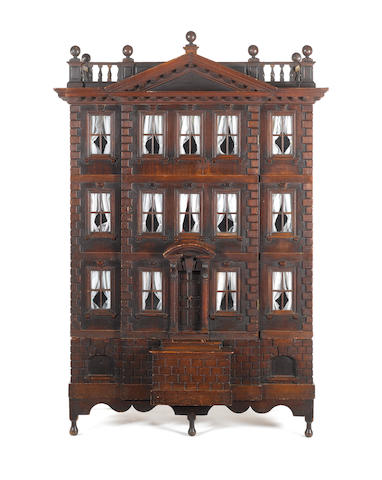 THE FORSTER BABY HOUSE: A rare George II Palladian carved mahogany Baby House