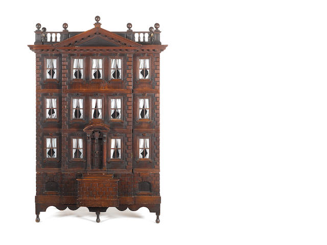 Early oak dolls house
