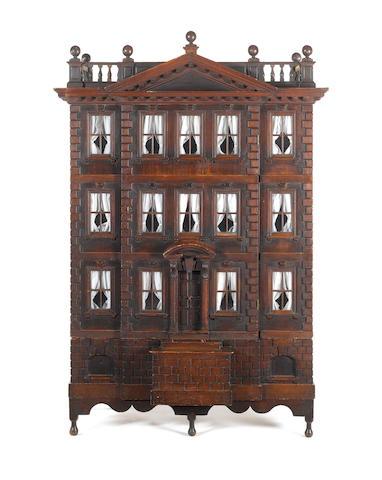 Early oak dolls house