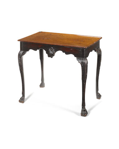A George III Irish carved mahogany Centre Table