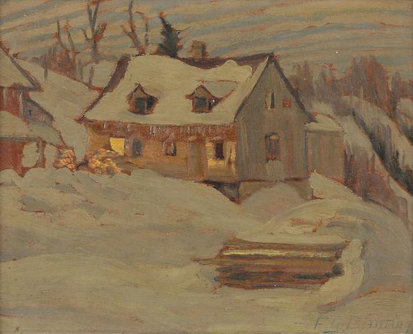 Sir Frederick Grant Banting (Canadian, 1891-1941) Exhibited: Hart House, University of Toronto, Exhibition of Paintings by the Late Sir Frederick Banting, February-March 1943, label fragement verso,