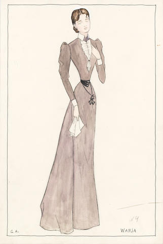 Yuri Pavlovich Annenkov (Russian, 1889-1974) Group of five costume designs (5)