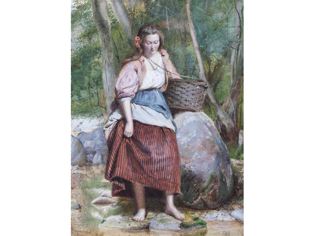 George Goodwin Kilburne, RI, RBA (British, 1839-1924) 30.5 x 23cm.