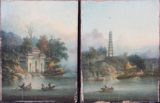 Anglo-Chinese School, Mid-19th Century 26.5 x 21cm Unframed