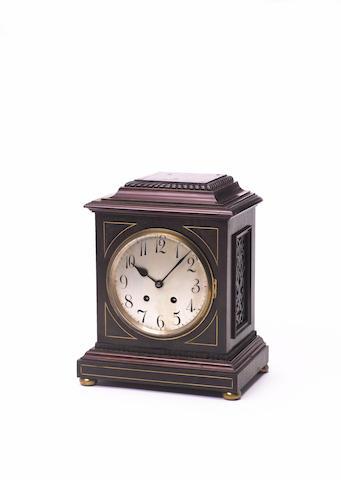 An early 20th century German mahogany mantel clock Lenzkirch
