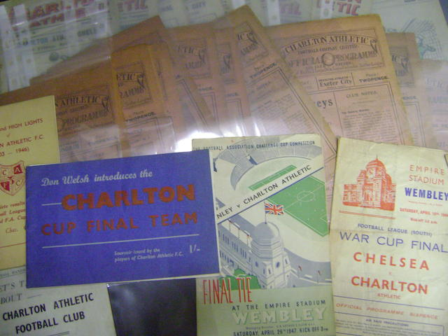 A collection of Charlton programmes