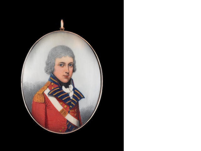 Frederick Buck (Irish, 1771-circa 1840) Thomas Pepper of the Royal Meath Militia, wearing scarlet co