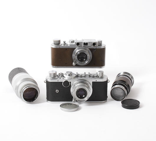 Leica cameras and equipment qty