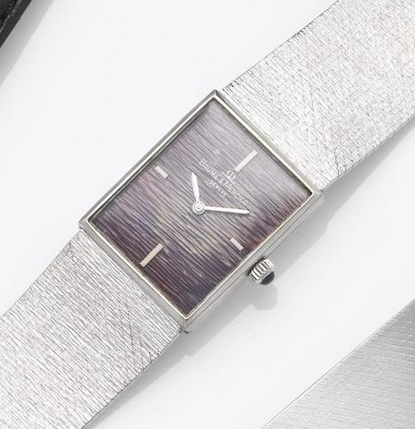 Baume & Mercier. An 18ct white gold bracelet watch1970's
