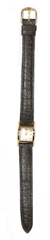 Baume & Mercier. A rare 18ct gold driver's wristwatch 1940's