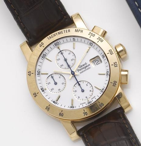Girard Perregaux. An 18ct rose gold automatic calendar chronograph wristwatch Ref:7000, 1990's