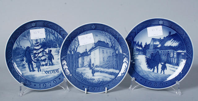 A small group of Royal Copenhagen 20th century,