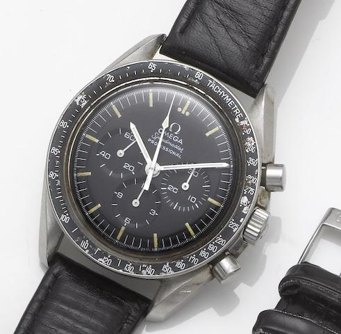 Omega. A stainless steel chronograph wristwatch Speedmaster, 1980's