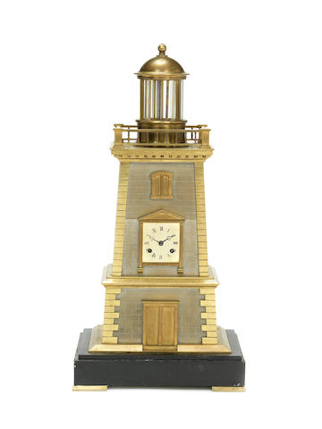 A late 19th century French lighthouse automata The automata movement stamped Legrand Aine