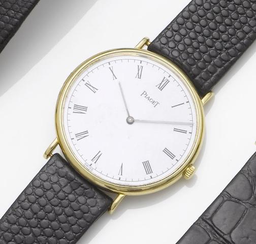 Piaget. An 18ct gold dress wristwatch 1980's