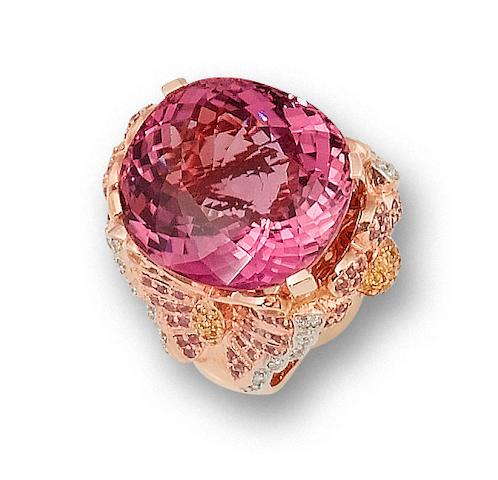 A gem-set ring