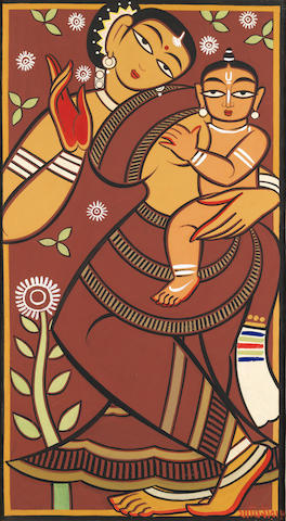 Jamini Roy (India, 1887-1972) Mother and Child,