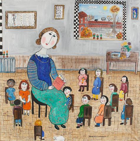 Dora Holzhandler (British, born 1928) The Kindergaen