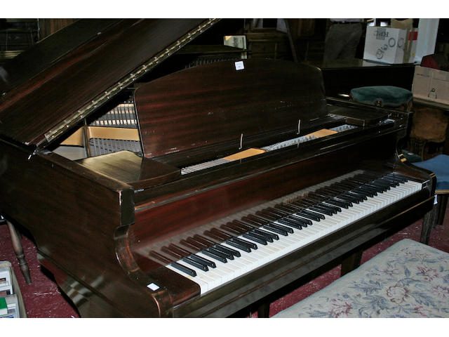 Challen & Co:  a mahogany cased baby pianoforte