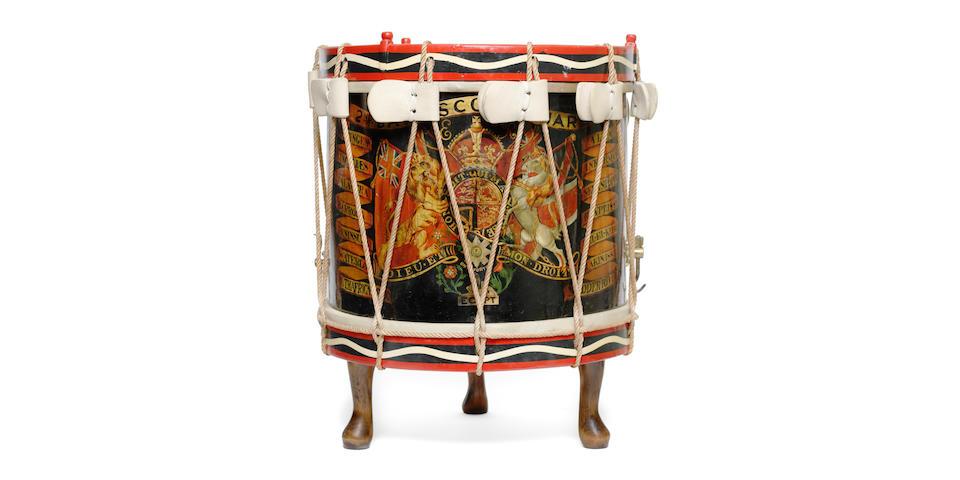 A Scots Guards 2nd battalion side drum