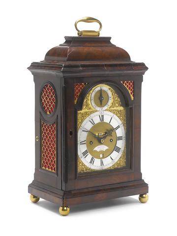 A mid 19th century mahogany bell-topped bracket clock Delander, London