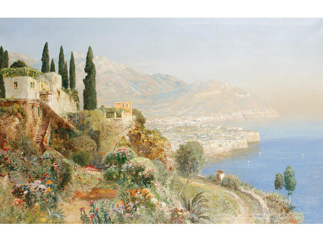 Alois Arnegger (Austrian, 1879-1967) View of Lake Como
