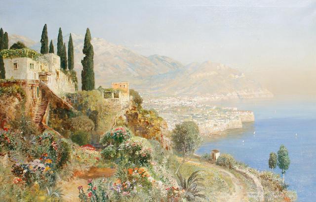 Alois Arnegger (Austrian, 1879-1967) View of Lake Como