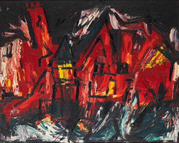 Francis Newton Souza (India, 1924-2002) Landscape,