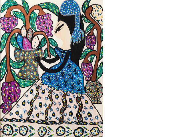 Baya (Algeria, 1931-1998) Untitled,