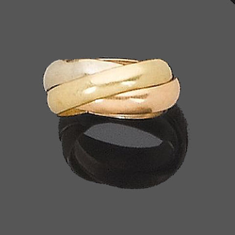 A trinity ring, by les must de Cartier and a multi-hoop ring (2)