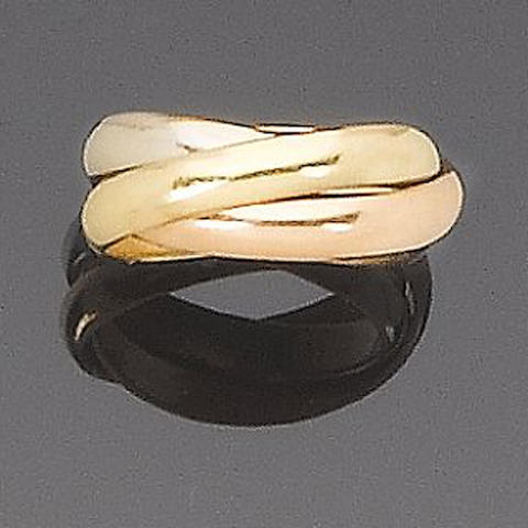 A trinity ring, by les must de Cartier