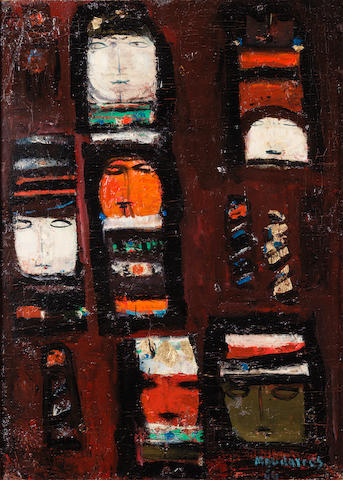 Fateh Moudarres (Syria, 1922-1999) Abstract Family,