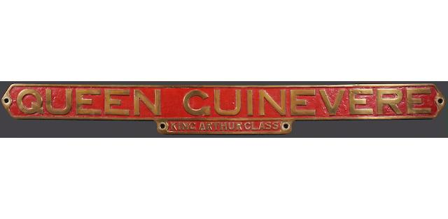 Southern Railway nameplate Queen Guinevere, ex-King Arthur Class E454 (BR30454)